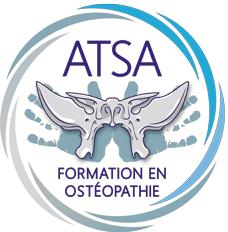 Logo de l'ATSA, école dans laquelle s'est formée Prune Manciet pour devenir ostéopathe D.O